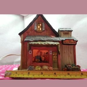 """Vintage Accents - Holiday Lighted """"fruit peddler """" For Your Christma"""